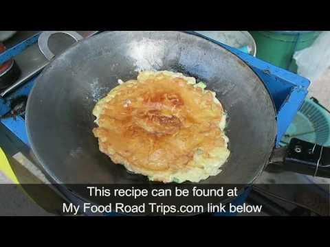 Thai Pork Omelet – Thai Omelet – Thailand Street Food