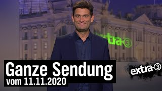 Extra 3 vom 11.11.2020 mit Christian Ehring | extra 3 | NDR