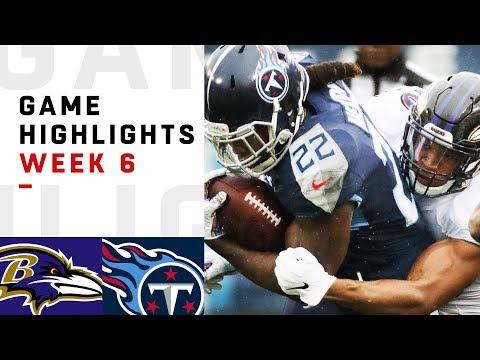 Ravens vs. Titans Week 6 Highlights | NFL 2018