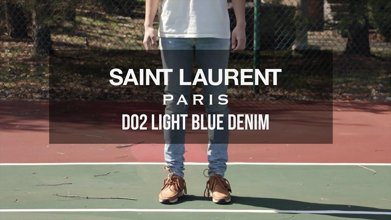 fa10691e672 A Closer Look at: Saint Laurent Paris D02 Denim - YouTube