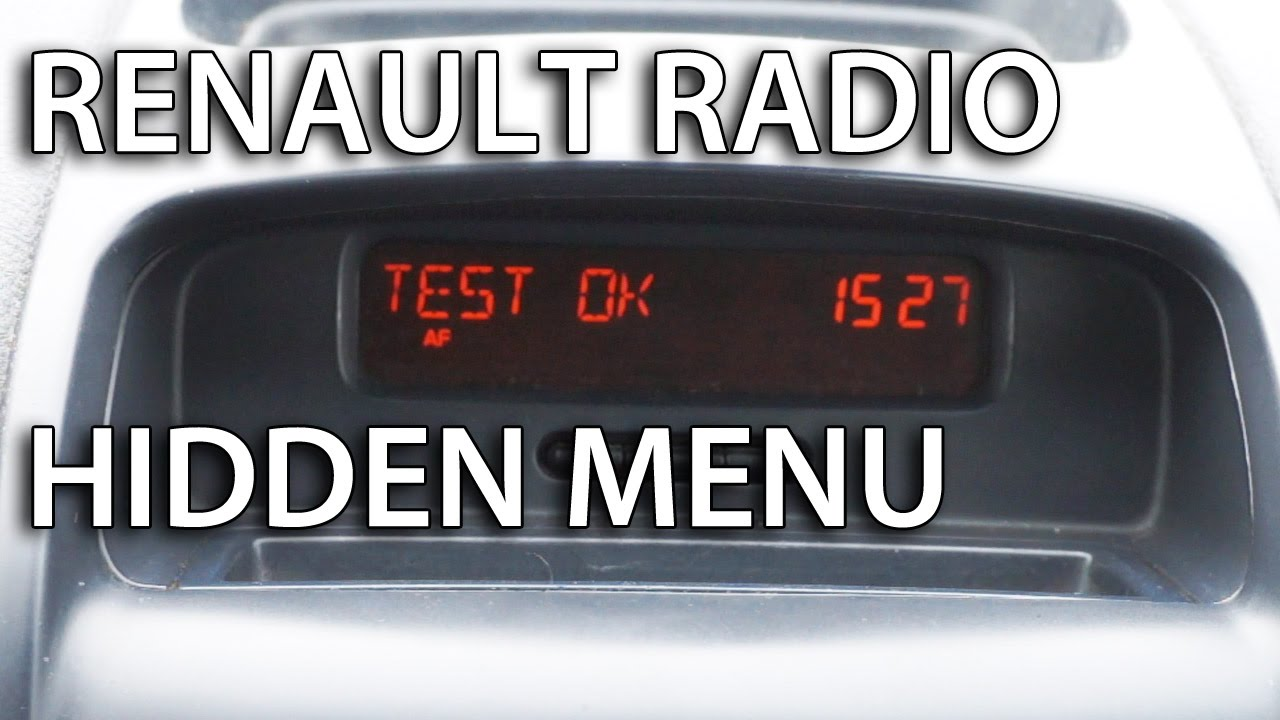 renault trafic wiring diagram w124 stereo radio hidden menu diagnostic tests (clio megan laguna kangoo espace scenic) - youtube