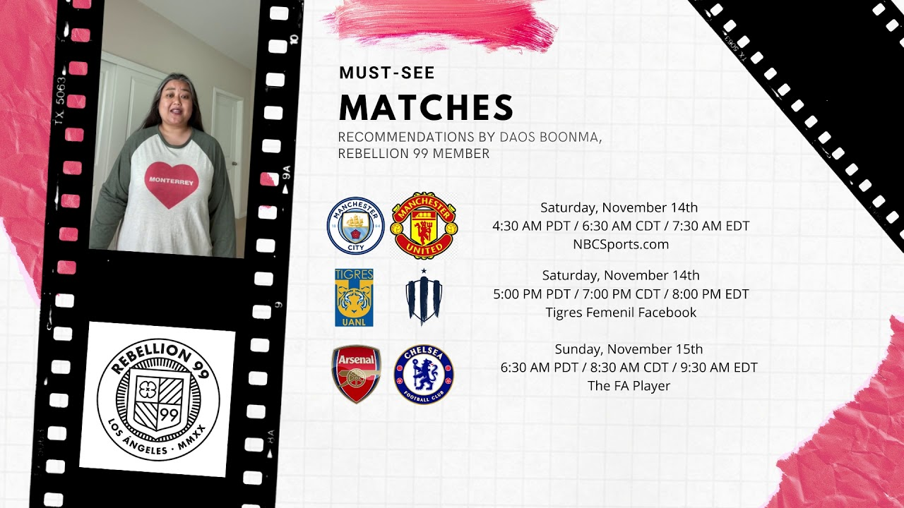 Must-See Matches I November 13-15, 2020