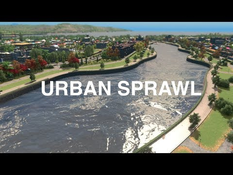 HOW TO LAKE SIDE URBAN SPRAWL | Cities Skylines