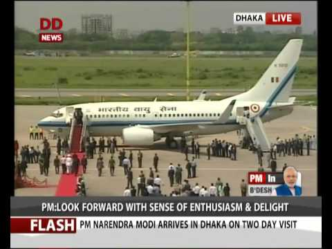 PM Modi arrives in Dhaka; receives ceremonial welcome