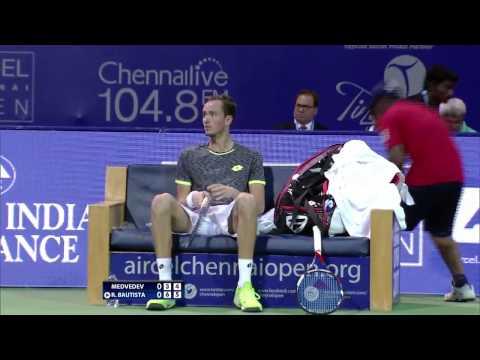 Aircel Chennai Open 2017: Roberto Bautista Agut v Daniil Medvedev (final highlights)