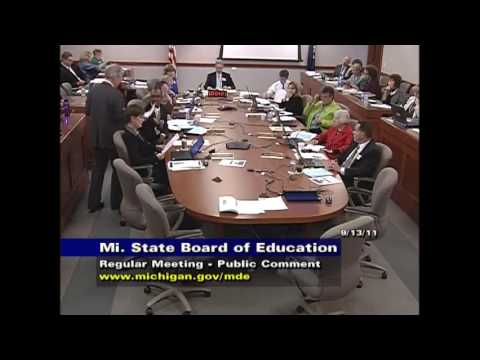Michigan State Board of Education Meeting for September 13, 2011 - Session Part 3