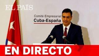 DIRECTO | Sigue la rueda de prensa de Pedro Sánchez en Cuba