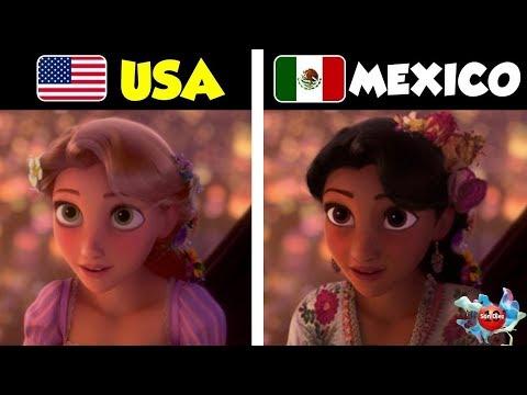 10 Princesas Disney Si Fueran De Otros Países
