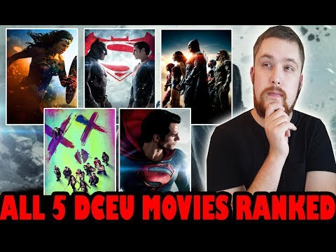 All 5 DCEU Movies Ranked Worst to Best (With Justice League)