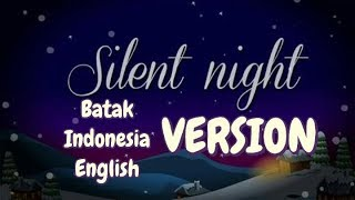 Silent Night versi Batak, Indonesia and English (Lyric Video) - Pando Situmorang