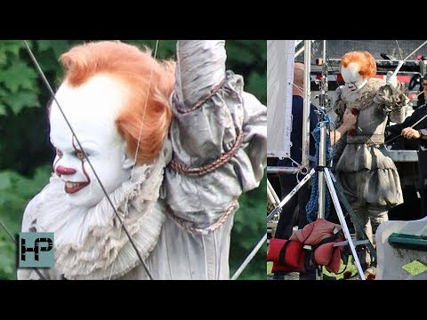 First Look at &39;It 2&39; - Bill Skarsgard Back in Costume as Pennywise on Set