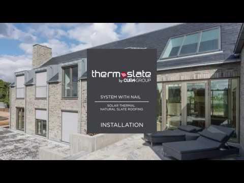 How to install a solar thermal slate roofing (System with nail)