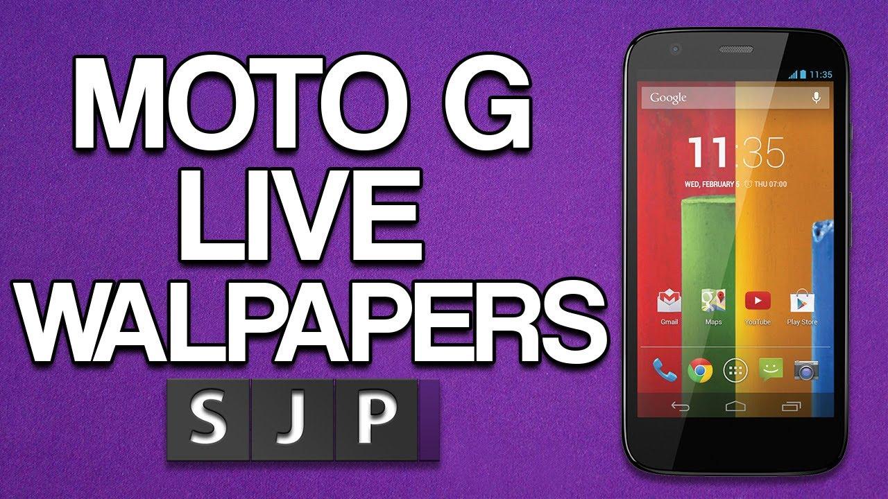 Motorola Moto G Live Wallpapers - YouTube
