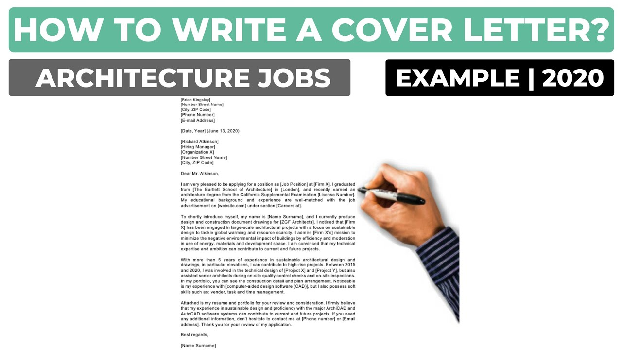 How To Write A Cover Letter For Architecture Jobs Examples Youtube