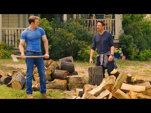 Tony Stark \u0026 Steve Rogers Chopping Wood Scene - Avengers: Age Of Ultron (2015) Movie CLIP HD