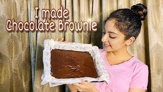 I made Chocolate Brownie 🤩🤎 | Ishaani Krishna.