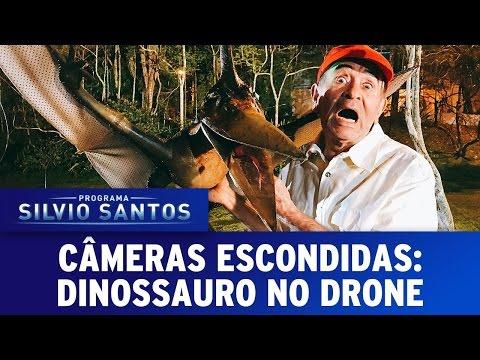 Dinossauro no Drone - Dino Prank   Câmeras Escondidas (21/05/17)