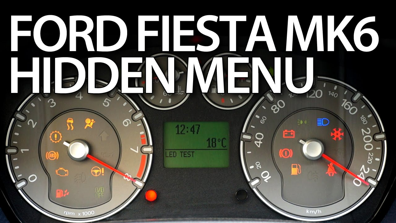 How To Enter Hidden Menu In Ford Fiesta Mk6 Service Test