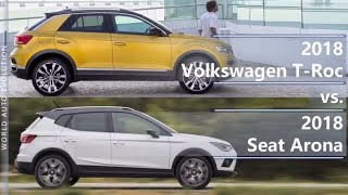 2018 Volkswagen T-Roc vs 2018 Seat Arona (technical comparison)