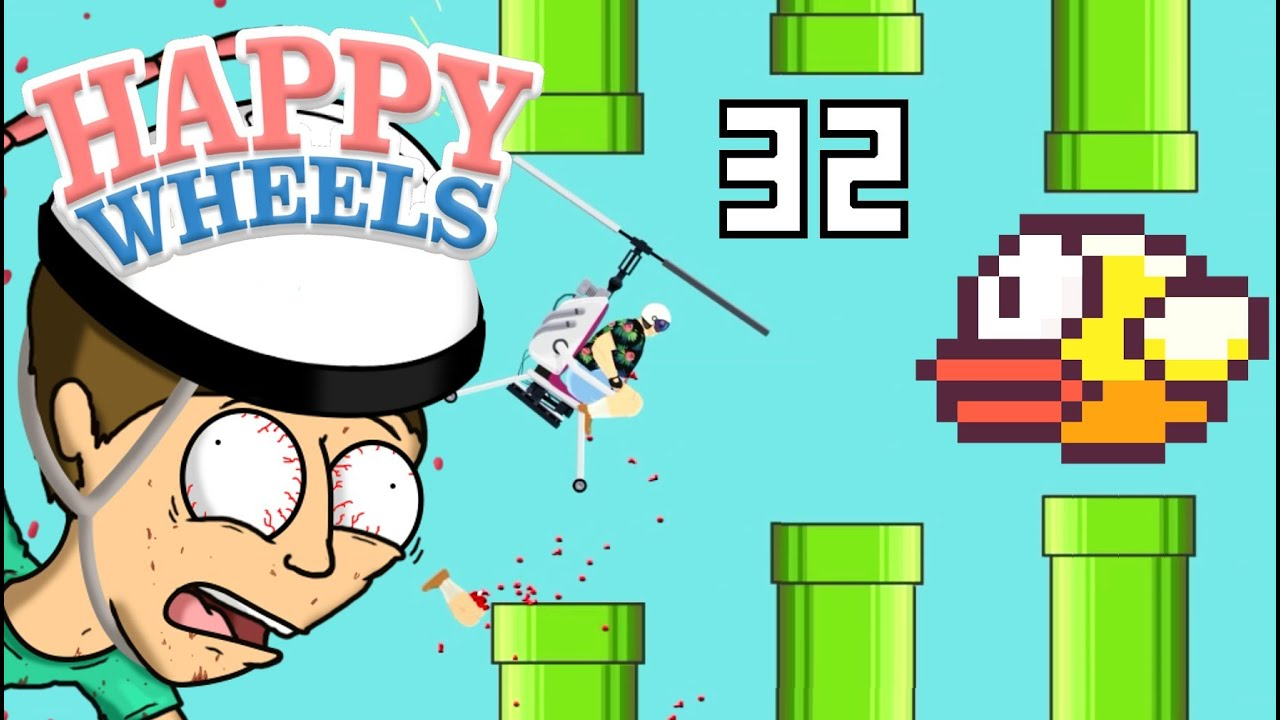 FLAPPY BIRD SU HAPPY WHEELS?! - Happy Wheels [Ep.32]