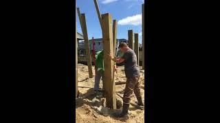 Installing Pilings For Beach Houses