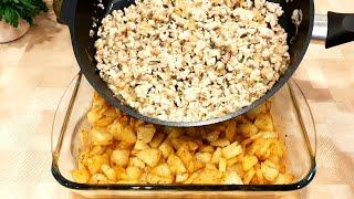 Картошка с фаршем Рецепт быстрый и простой ВКУСНОТА из фарша и картофеля в духовке