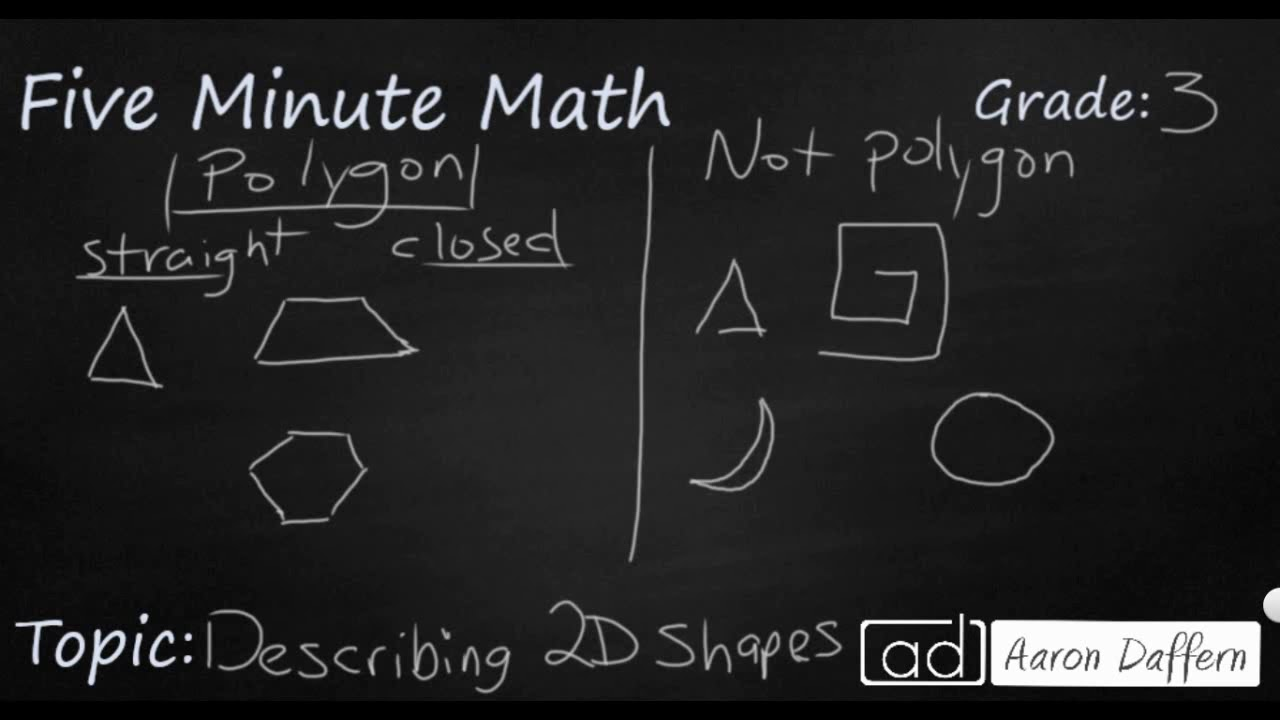 3rd Grade Math - 2D and 3D Shapes