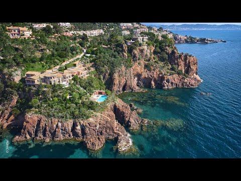 360 Video Virtual Tour Exclusive waterfront property in private domain Théoule sur Mer Côte d'Azur
