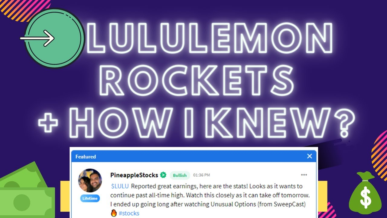 $LULU 🚀 How Did I Know? We went long on the stock for earnings! 🔥