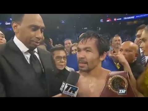 Pacquiao and Vargas Post Fight Interview