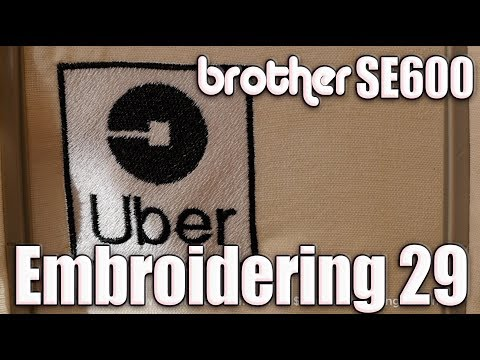 Embroidering Uber Icon on Brother SE600