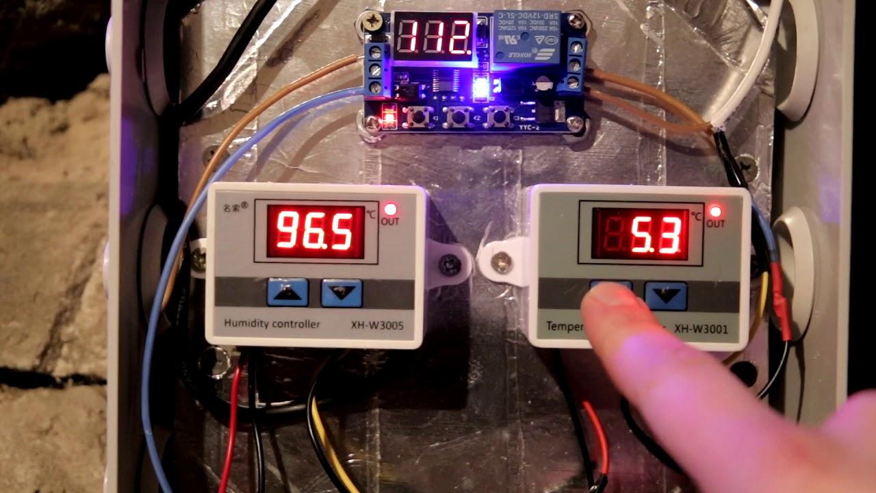Принудительная автоматическая вентиляция погреба с датчиком влажности, температуры и реле времени