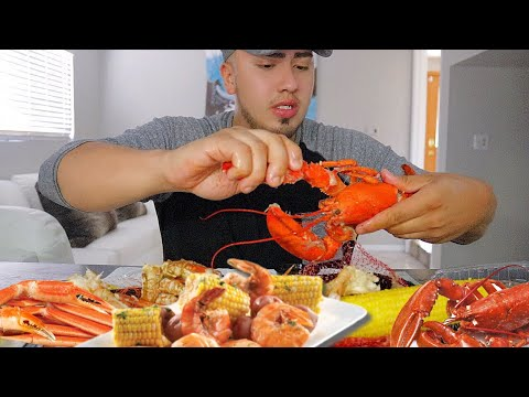 ⚠️ 🦀 SEAFOOD BOIL MUKBANG LOBSTER  CRAB