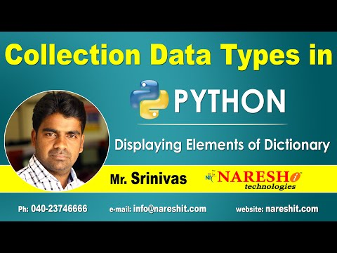 displaying-elements-of-dictionary-|-collection-data-types-in-python-|-python-tutorial-|-mr.-srinivas