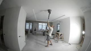 РЕМОНТ НА ПРАКТИКЕ. Шпаклевка потолка под обои. Как шпаклевать потолок.