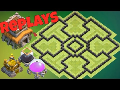 Best Th8 Farming Base 2017 Anti Dark Elixir With Replays Anti Giant Anti Loot Anti Valkyrie