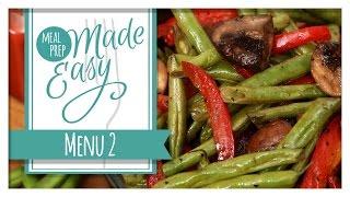 Healthy Meal Prep  Menu 2