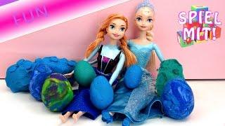 Elsa überraschungsei - Überraschungseier aus Knete mit Eiskönigin Elsa und Prinzessin Anna