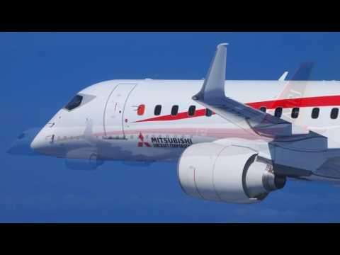 MRJ FTA2 First flight Mitsubishi Regional Jet 飛行試験機2号機の初飛行 画像 三菱航空機提供