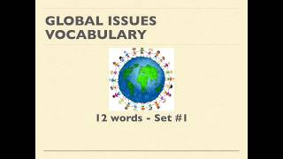 Global Issues Vocabulary Set 1