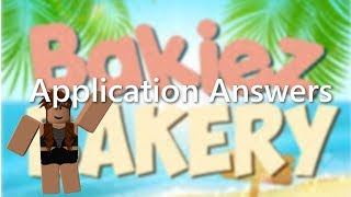 Bakiez Application Answers 2018 | ROBLOX