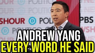Andrew Yang 6th Democratic Debate Full Highlights | Every Word He Said