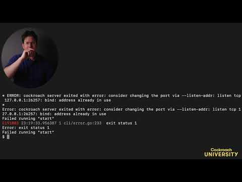 Cockroach University: Spin Up and Scale-Out a Local Cluster (Mac)
