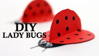 How To Make Cute Ladybugs for Diwali | DIY Paper Lady Bugs