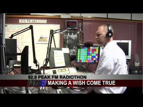 92.9 PEAK FM Radiothon on FOX21 Morning News