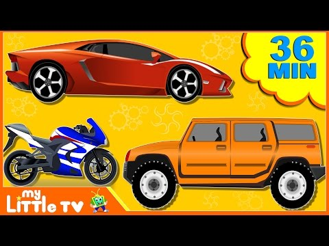 Sports Car | Bike | Fire Truck | Formation and Use | Car Wash Videos for Children