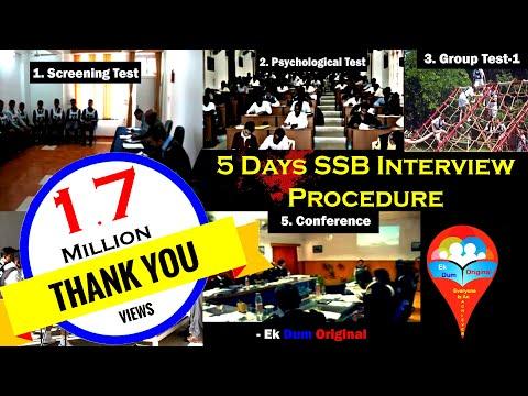5 Days SSB Interview Procedure || Complete Procedure In Brief || Hindi