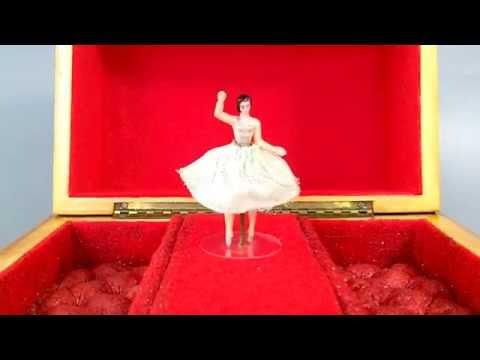 Vintage Dancing Ballerina Musical Jewelry Box