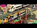 LEGO Multi Level Train Race | Lego brick film | 4K | Lego high speed passenger train | Legobricks