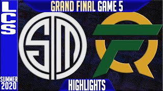 TSM vs FLY Highlights Game 5 | LCS GRAND FINAL Playoffs Summer 2020 | Team Solomid vs FlyQuest G5